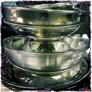 Stainless Steel Bowls - Commercial Kitchen iphonography