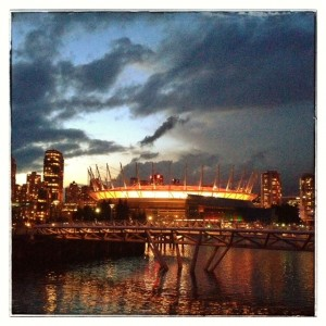 BC Place at twilight