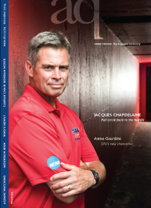 SFU aq Magazine Cover feature on Clansmen Coach, Jacques Chapdelaine and his sons