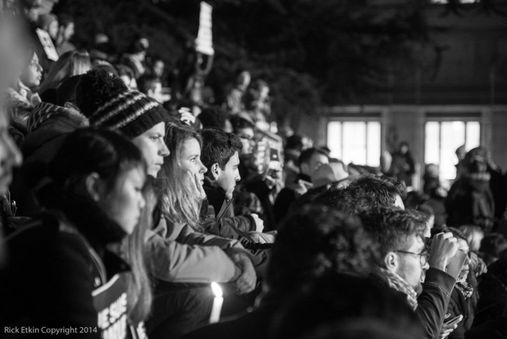 """""""Je Suis Charlie' Silent Vigil on the steps of the Vancouver Art Gallery Jan 7 2014"""